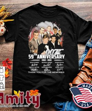 007 28th anniversary 1960 2021 signatures thank you for the memories shirt