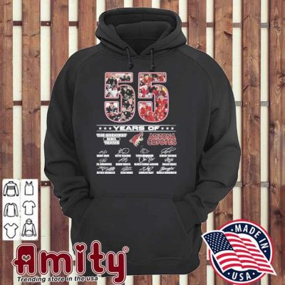 55 years of the greatest NHL teams Arizona Coyotes signatures hoodie