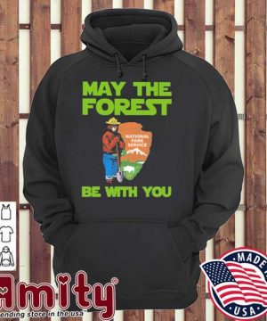 Bear may the forest be with you hoodie