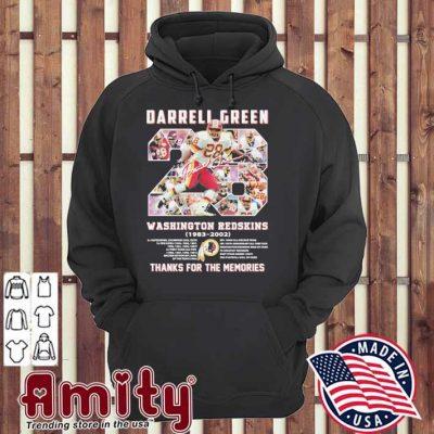 28 Darrell Green Washington Redskins 1983 2002 thanks for the memories hoodie