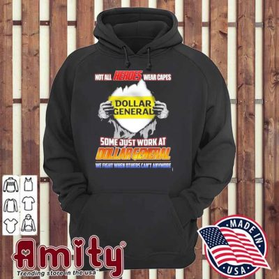 Blood Inside me not all Heroes wear capes some just work at Dollar General hoodie