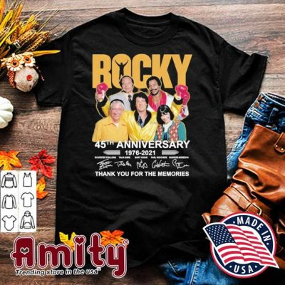 Rocky 45th anniversary 1976 2021 signatures thank you for the memories shirt