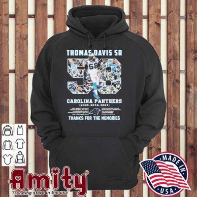 58 Thomas Davis Sr Carolina Panthers 2021 thanks for the memories hoodie