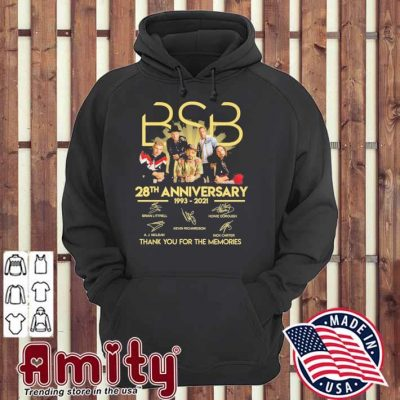 BSB 28th anniversary 1993 2021 signatures thank you for the memories hoodie