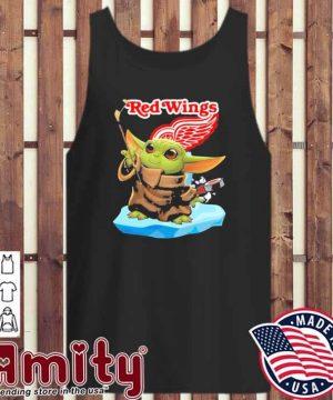 Baby Yoda Hockey red Wings 2021 tank-top