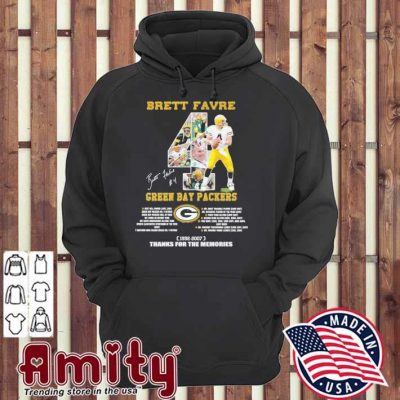 Brett Favre Green Bay Packers signature 1992 2007 thanks for the memories hoodie