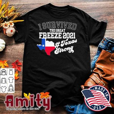I survived the great Freeze 2021 texas strong shirt