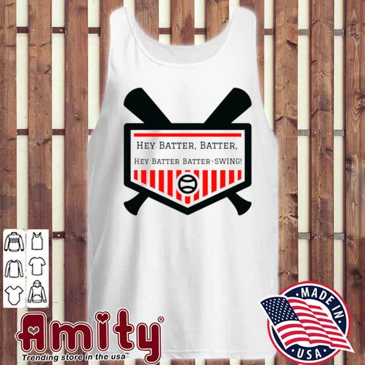 Hey Batter Batter tank  Hey Batter Batter shirt  Baseball tank top  Baseball shirt