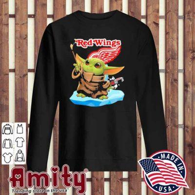 Baby Yoda Hockey red Wings 2021 sweater