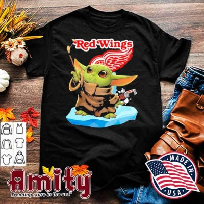 Baby Yoda Hockey red Wings 2021 shirt