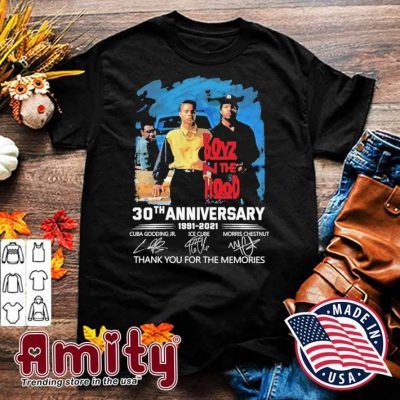 Boyz the hood 30th anniversary 1991 2021 signatures thank you for the memories shirt