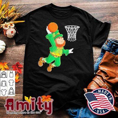 Leprechaun playing Basketball St Patrick's Day shirt