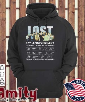 Lost movie 17th anniversary 2004 2010 signatures thank you for the memories hoodie