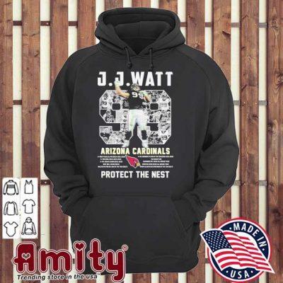 J J Watt 99 Arizona Cardinals protect the nest hoodie