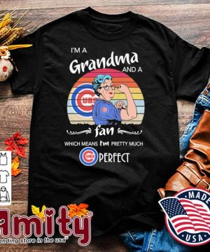 Strong Grandmas I'm a Grandma and a fan which mean I'm pretty much Cubs Perfect vintage shirt