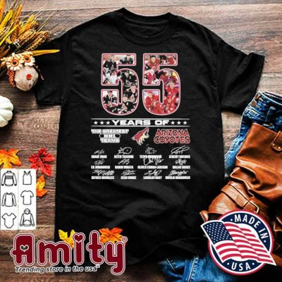 55 years of the greatest NHL teams Arizona Coyotes signatures shirt