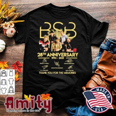 BSB 28th anniversary 1993 2021 signatures thank you for the memories shirt