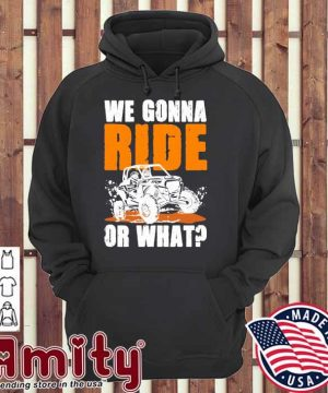 We gonna ride or what hoodie