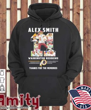 11 Alex Smith Washington Redskins thanks for the memories hoodie