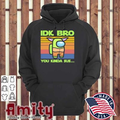 Baby Yoda Idk bro you kinda sus vintage hoodie