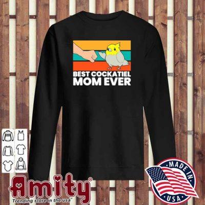 Bird Cockatiel Parrot Best Cockatiel Mom Ever Vintage sweater