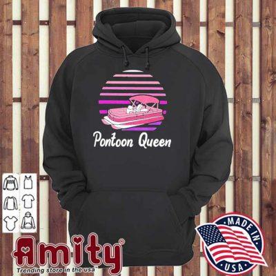 Pontoon captain boat gift vintage hoodie