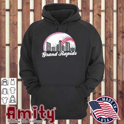 Cityscape Retro Baseball Grand Rapids Baseball Skyline Shirt hoodie
