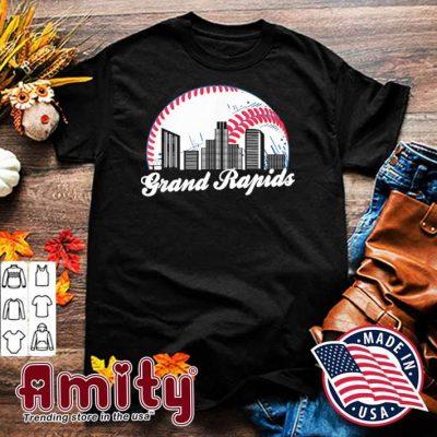 Cityscape Retro Baseball Grand Rapids Baseball Skyline Shirt