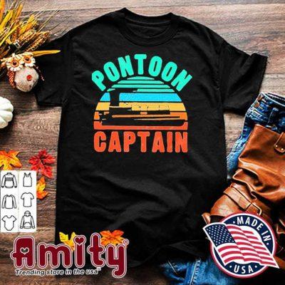 Pontoon captain boat owner boating vintage shirt
