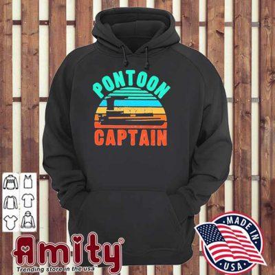 Pontoon captain boat owner boating vintage hoodie