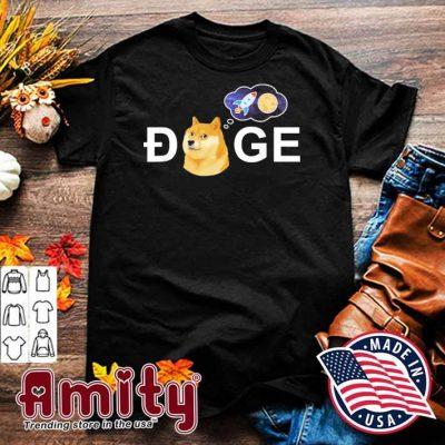 Dogecoin Doge HODL To the Moon Crypto Meme T-Shirt
