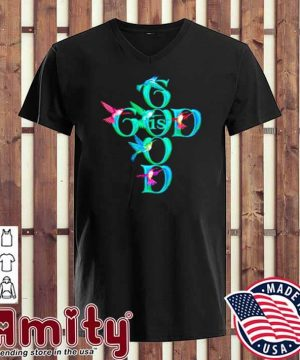 Good Is God Bird Shirt v-neck
