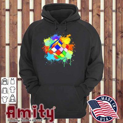 Cool rubik rubix rubics player cube watercolor lovers hoodie