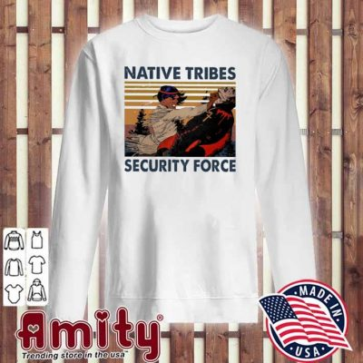 Native Tribes security force vintage sweater