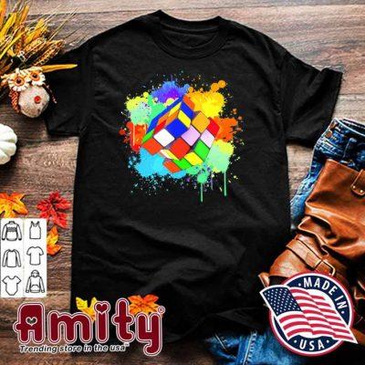 Cool rubik rubix rubics player cube watercolor lovers shirt