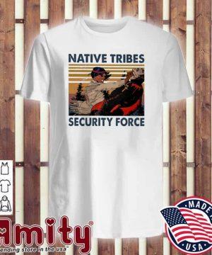 Native Tribes security force vintage v-neck