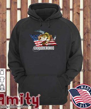 Official American Flag With Bass Fish Hooked Shirt hoodie
