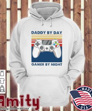 Official Daddy By Day Gamer By Night Vintage Retro Shirt hoodie