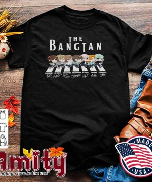 Official The Bangtan BTS Chibi Abbey Road Signatures Shirt