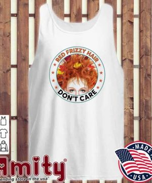 Red frizzy hair don't care tank-top