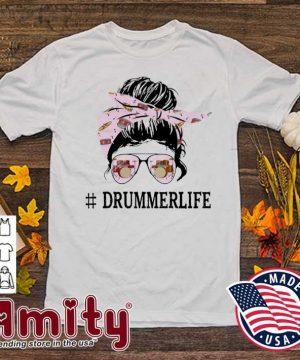 Skull Girl Drummer Life Shirt
