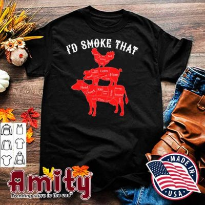 I'd smoke that chicken and pig and cow shirt