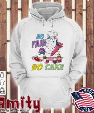 Unicorn no pain no care hoodie