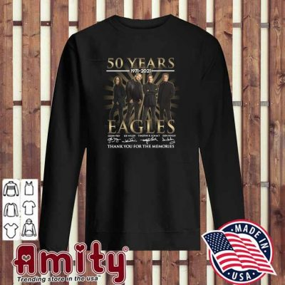 50 Years 1971 - 2021 Eagles Glenn Frey Signatures Thank You For The Memories Shirt sweater