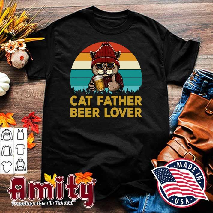 Cat Father Beer Lover Vintage Shirt