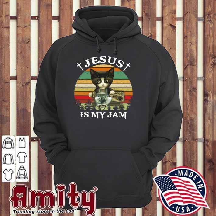 Cat Jesus is my jam vintage hoodie