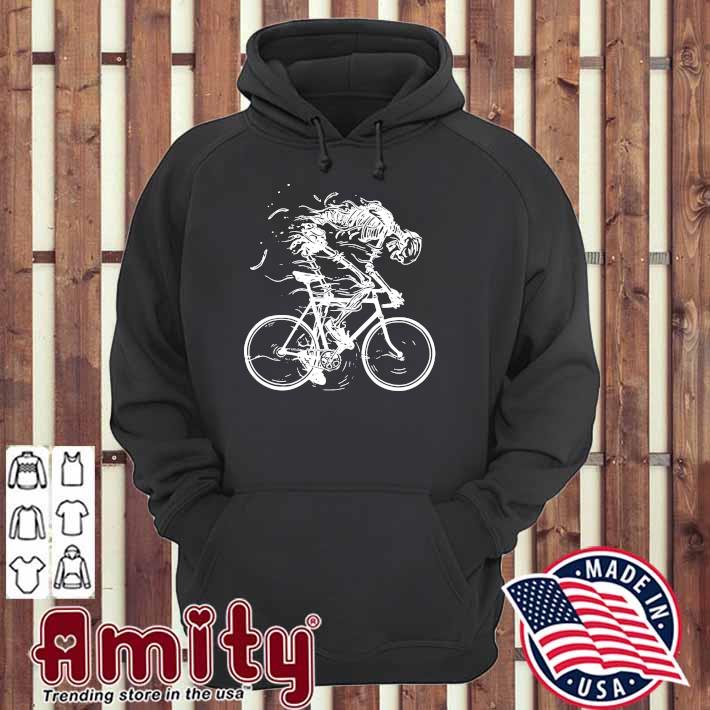 Cycling Skeleton - Cycling Till Die Shirt hoodie