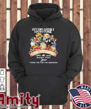 Studio Ghibli 36 Years 1985 - 2021 Miyazaki Hayao Signature Thank You For The Memories Shirt hoodie