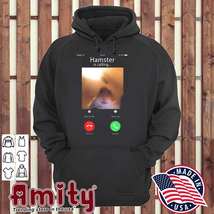 Dank meme hamster staring front camera hamster calling gift tank top hoodie