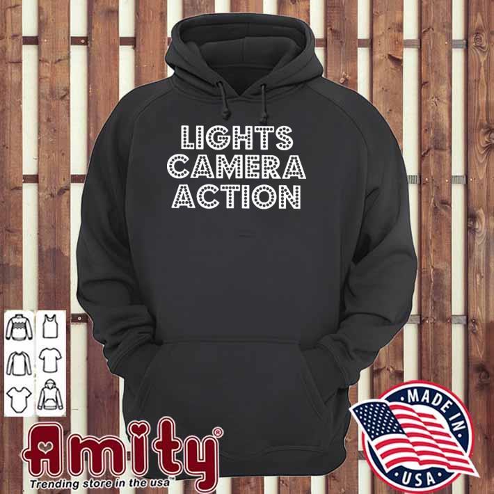 Filmmaker filmmaking lights camera action hoodie
